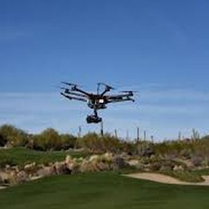 drone over golf course bayer