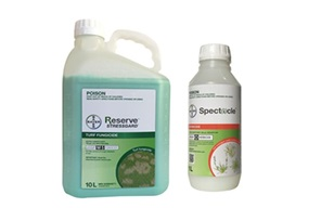 Specticle herbicide and Reserve StressGard fungicide